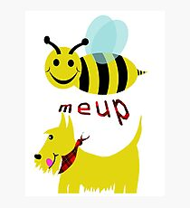 Bee meup Scotty Photographic Print