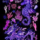 Sea Dragon & Sea Unicorn by makemerriness