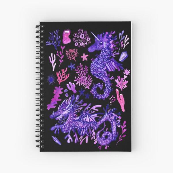 Sea Dragon & Sea Unicorn Spiral Notebook