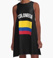 Kolumbien Flagge A-Linien Kleid