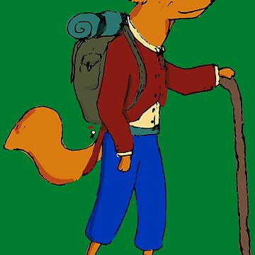 Hiking Fox by InkRain