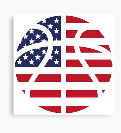 American Basketball Flag Canvas Print