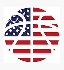 American Basketball Flag Photographic Print
