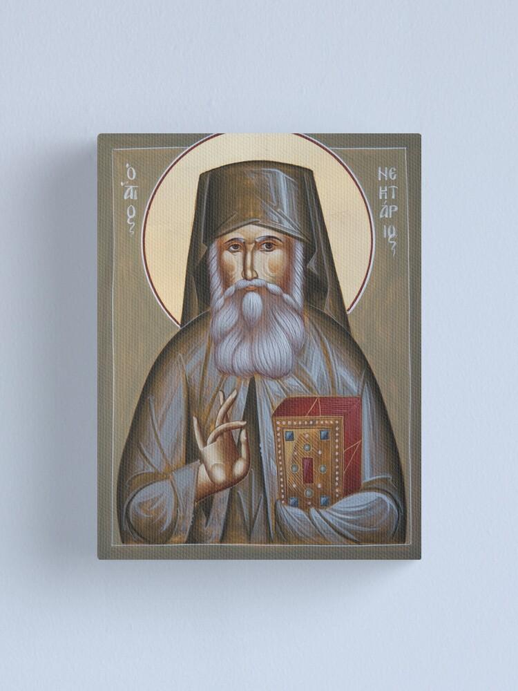 Alternate view of St Nektarios of Aegina Canvas Print