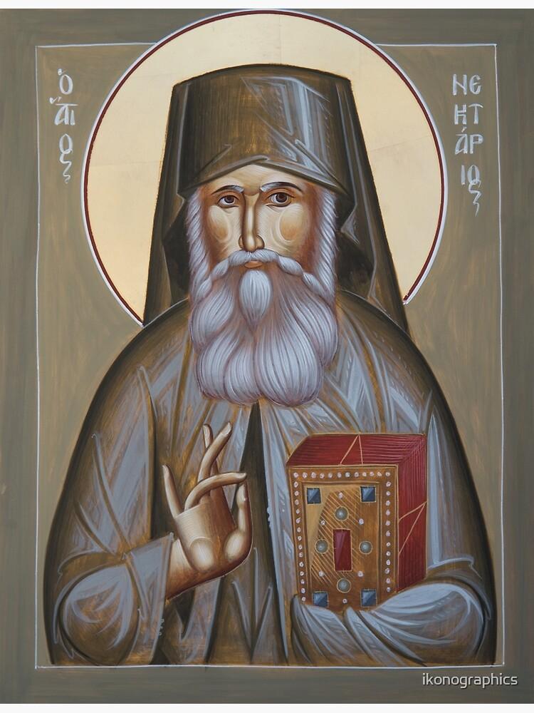 St Nektarios of Aegina by ikonographics