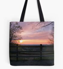 Dusk at the Landslide Tote Bag