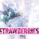 STRAWBERRIES by SIE in light blue by sourceindie
