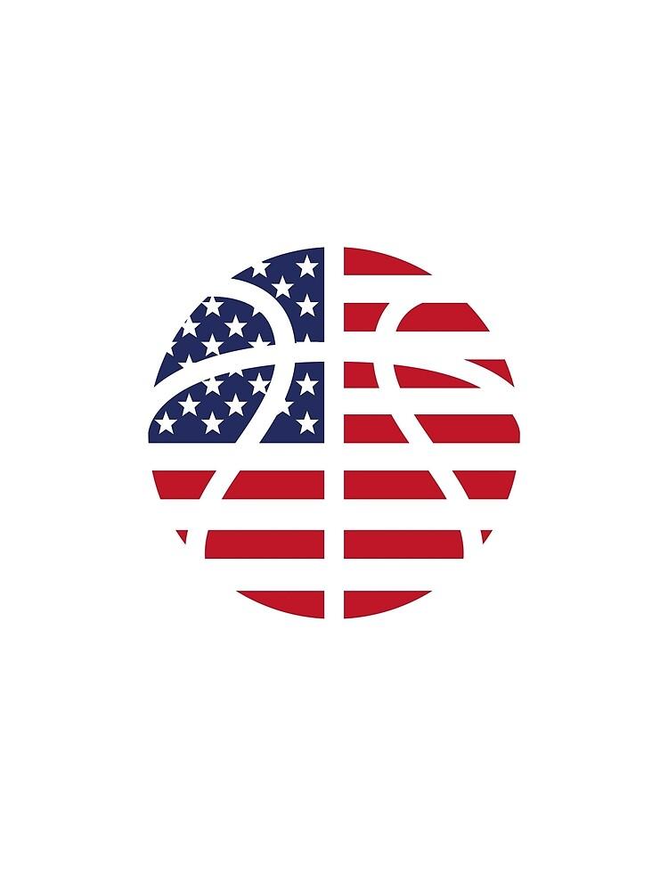 American Basketball Flag by Chocodole