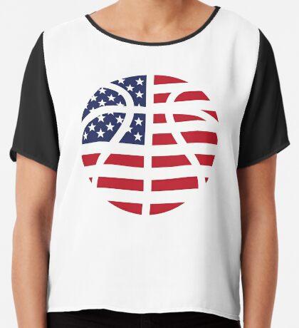 American Basketball Flag Chiffon Top