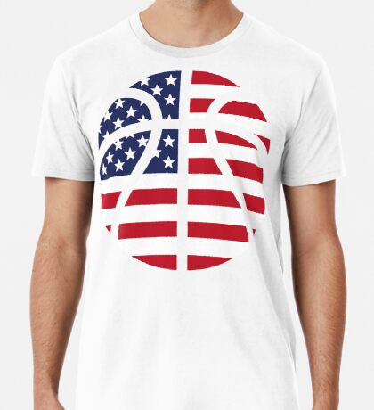 American Basketball Flag Premium T-Shirt