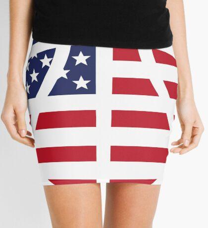 American Basketball Flag Mini Skirt