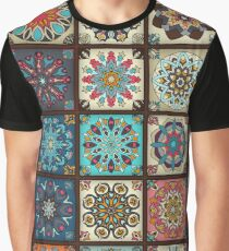 Vintage patchwork with floral mandala elements Graphic T-Shirt