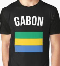 Gabon Flag Graphic T-Shirt