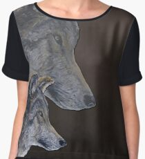 2 Wölfe /wolves Version1 Women's Chiffon Top