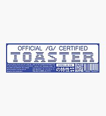 Official G Certified Toaster Photographic Print