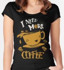 CoffeeTees Funny Coffee Shirts Women's Fitted Scoop T-Shirt