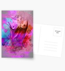 Act - pink turquoise Postcards