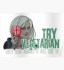 Try Vegetarian They Ask About It All The Time iZombie Parody Poster