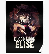 League of Legends BLOOD MOON ELISE Poster