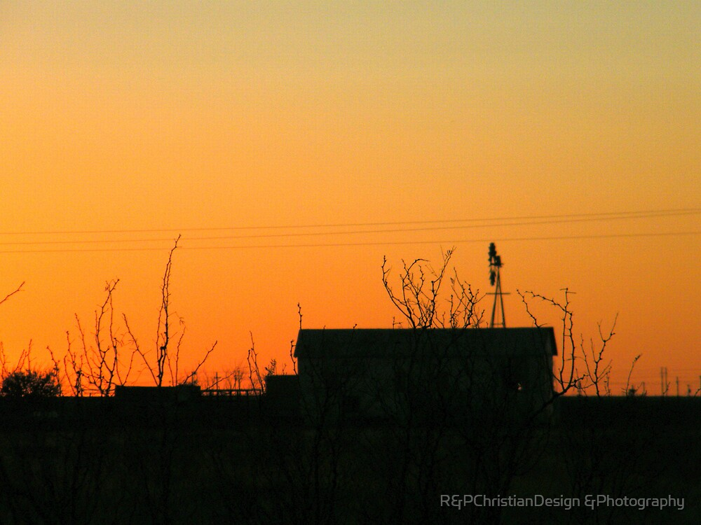 Windmill Silhouette by R&PChristianDesign &Photography