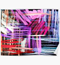 oil pastels abstract pattern Poster