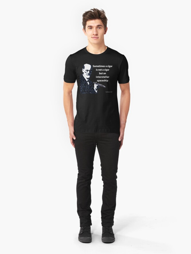 Alternate view of Freud and the Cigar-shaped Asteroid Slim Fit T-Shirt