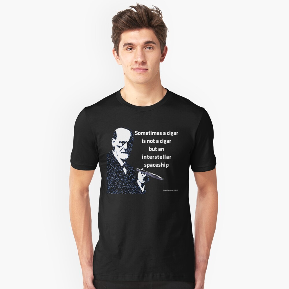 Freud and the Cigar-shaped Asteroid Slim Fit T-Shirt