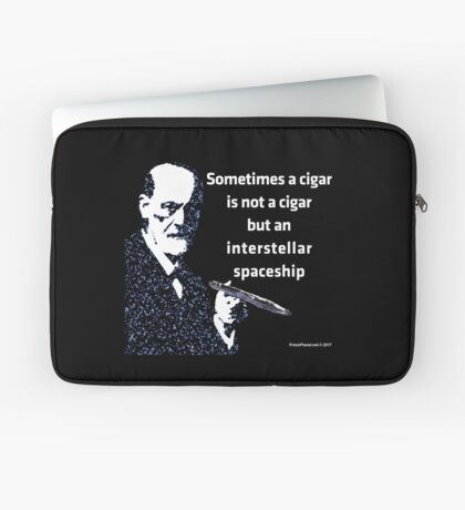 Freud and the Cigar-shaped Asteroid Laptop Sleeve