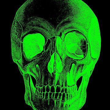 Green Skull by grinningskull