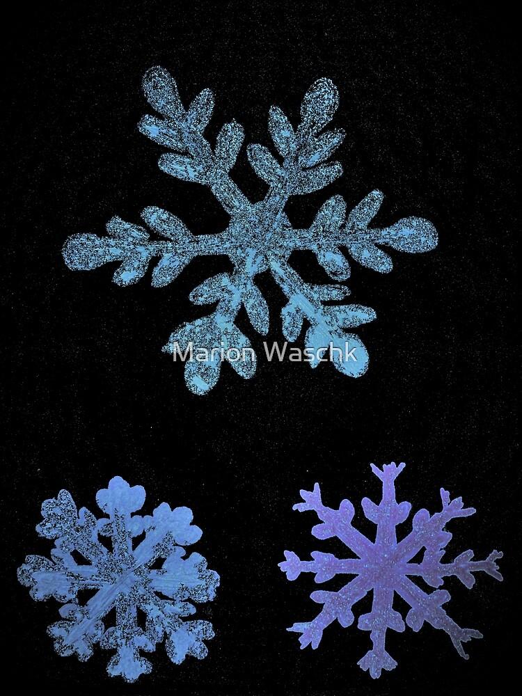 Eiskristalle - Eissterne - Ice-Christals - Ice Stars - part II - blue -  von Marion Waschk