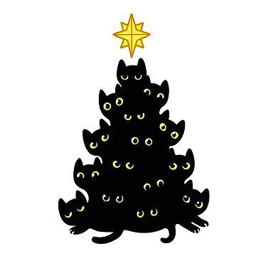 Black kitty tree by Yigy