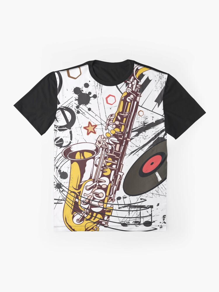 Alternate view of Sax Tunes Graphic T-Shirt