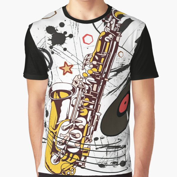 Sax Tunes Graphic T-Shirt