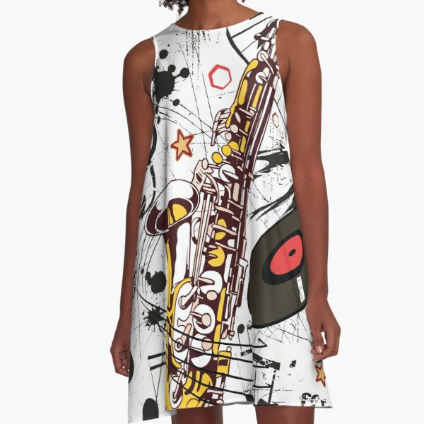 Sax Tunes A-Line Dress