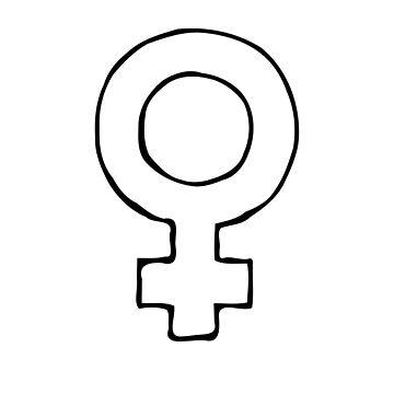 Male Gender Symbol Identify Female Universal Identity Society by stevesemojis