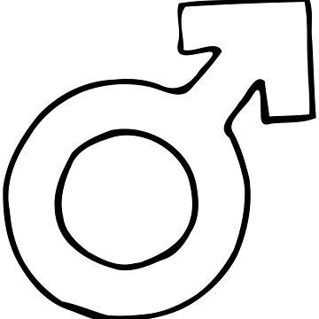 Male Female Gender Symbol Universal Identify Society by stevesemojis