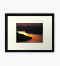 Brentwood Bay from the Malahat Framed Print