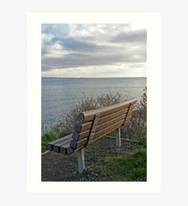 """Bench To Contemplate On"" Art Print"