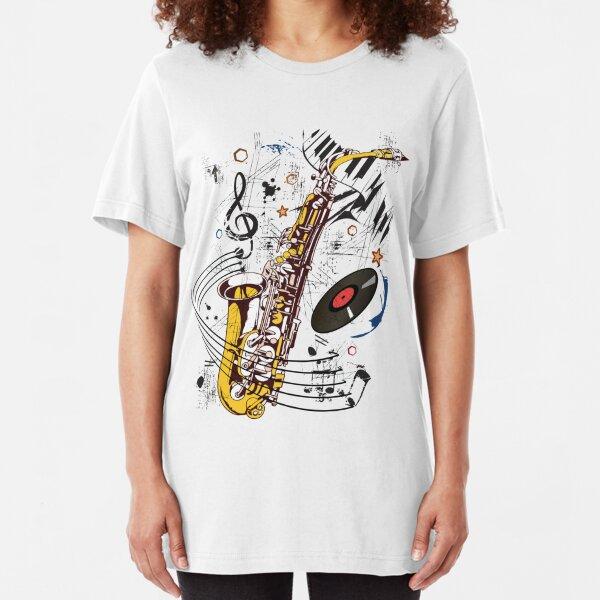 Sax Tunes Slim Fit T-Shirt