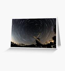Star Trail - Mountnessing Windmill Greeting Card