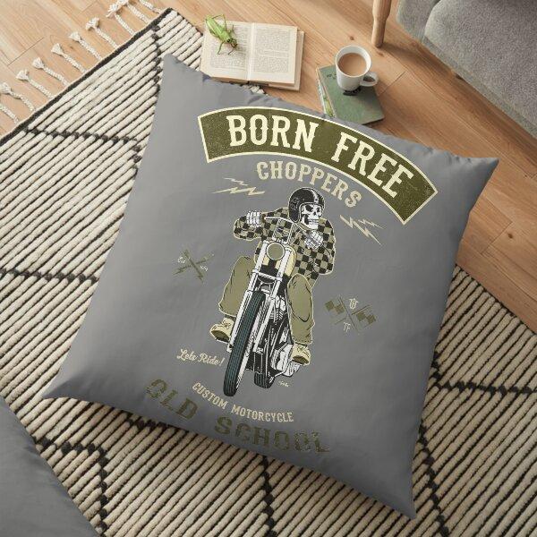 Born Free - Custom Motorcycle Floor Pillow
