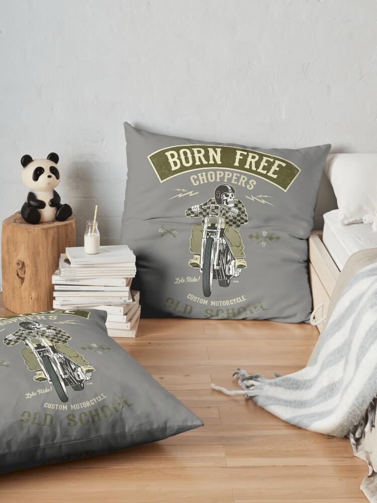 Alternative Ansicht von Born Free - Custom Motorcycle Bodenkissen