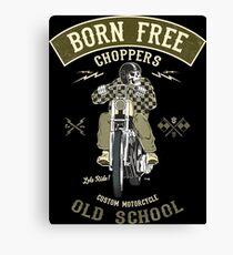 Born Free - Custom Motorcycle Leinwanddruck