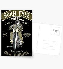 Born Free - Custom Motorcycle Postkarten