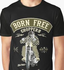 Born Free - Custom Motorcycle Grafik T-Shirt