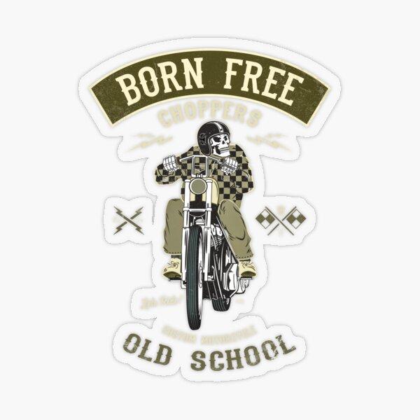 Born Free - Custom Motorcycle Transparent Sticker