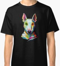 Bull Terrier Colorful Painting Classic T-Shirt