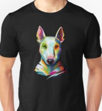 Bull Terrier Colorful Painting Unisex T-Shirt