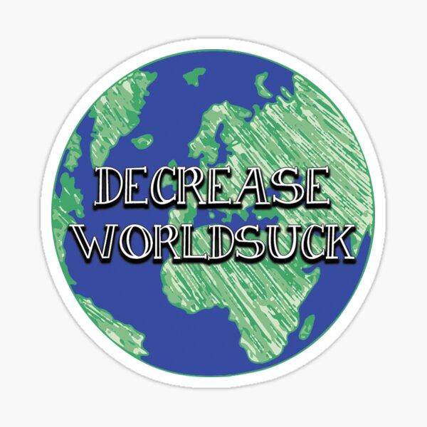 DFTBA Nerdfighter Vlogbrothers World Suck Sticker