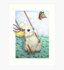 Pooky Swing Art Print
